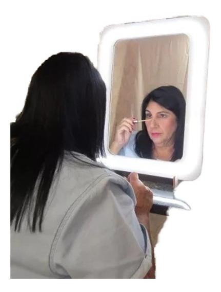 Espelho Camarim Led Neon Youtuber Make Up Bancada E Parede