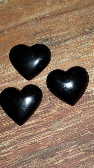 Coração De Obsidiana Natural
