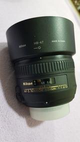 Lente Af-s Nikon 50mm 1.4 G Nikkor Serve Dx Crop Semi Nova