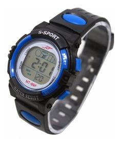 Relógio Infantil Digital Led Com Alarme 5 Luzes Diferenes