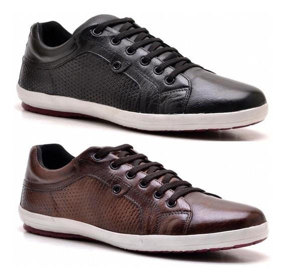 Sapatenis Casual Tenis Masculino Confort Sapato 2 Pares