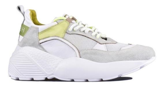 Zapatilla Mujer Heyas Lusina Plataforma Sneakers Cuero S/s20