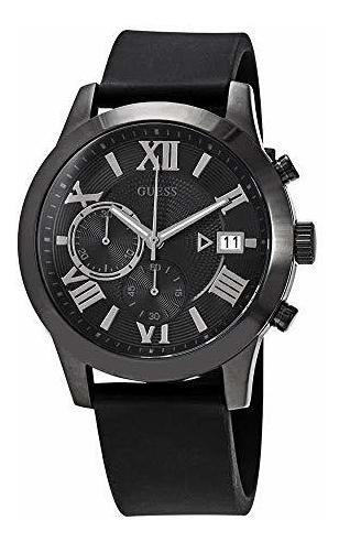 Imagen 1 de 1 de Reloj Cronografo Para Hombre Esfera Clasica Negro Guess