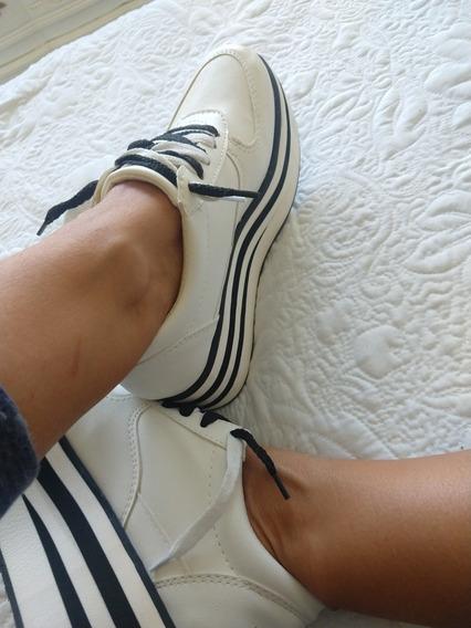 Zapatillas Plataformatalle 36blancas