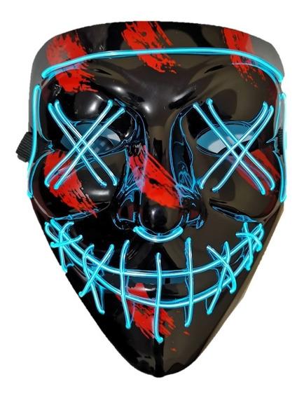 Mascara La Purga Luz Led The Purge Pilas Gratis Elige Color