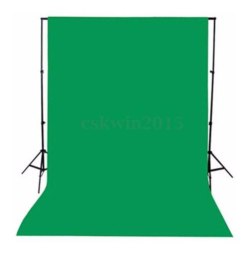 Imagem 1 de 6 de Backgrounds Pano 1.5x1m Verde Fotografia Tecido Cromakey Fun