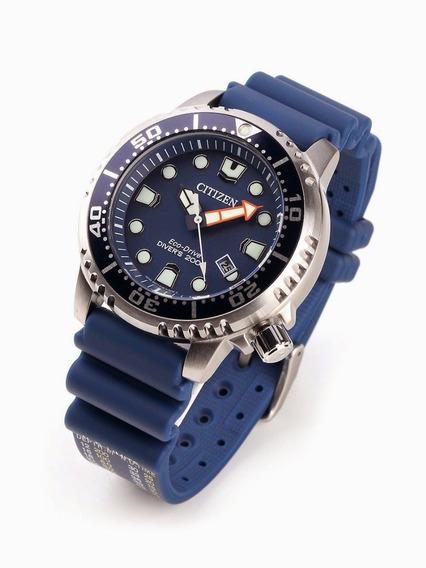 Relógio Citizen Eco Drive Promaster Diver Blue Bn0151-09l + Brinde
