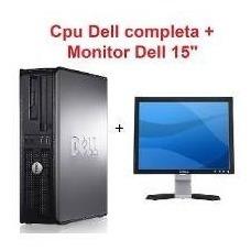 Computador Dell Core 2 Duo + Monitor 15 + Teclado E Wi-fi