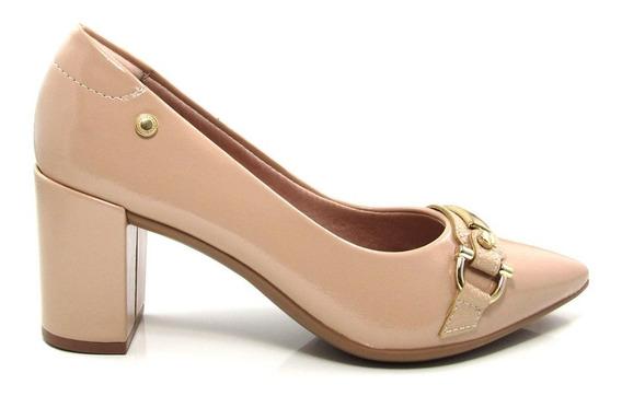 Scarpin Bico Fino Feminino Salto Grosso Olfer Shoes 1240007