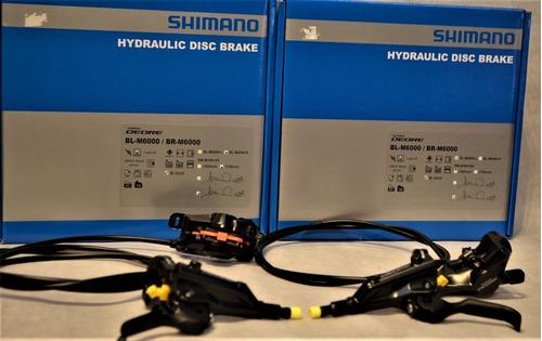 Imagem 1 de 9 de Par Freios A Disco Hidraulico Shimano Deore Bl-m6000