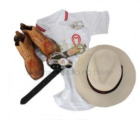 Kit Cavalgada Mangalarga Botina + Camisa +chapéu E Brindes