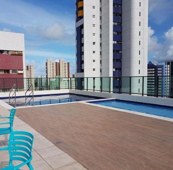 Apartamento Em Espinheiro, Recife/pe De 37m² 1 Quartos À Venda Por R$ 290.000,00 - Ap126796