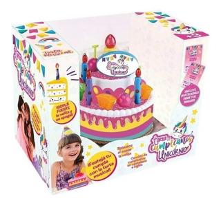Torta De Cumpleaños Musical Unicornio Chica Bilingue