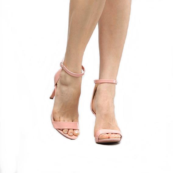 Sapato Clássico Tira Tornozelo Salto Alto 9cm Agulha 2019