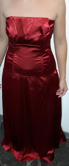 Vestido De Fiesta Rojo, Bordó, C/ Torerita, Corset Y Pollera