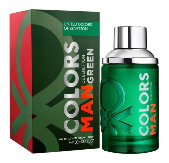Colors Man Green Benetton Edt - Perfume Masculino 100ml