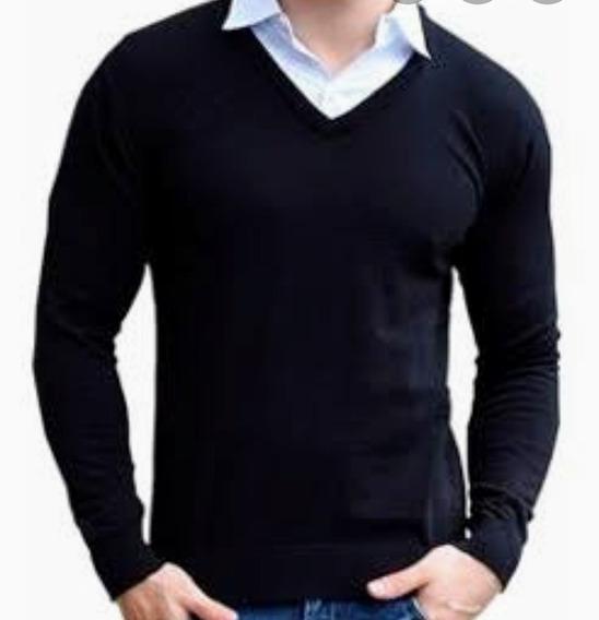 Suéter Caballero Cuello V Varios Colores