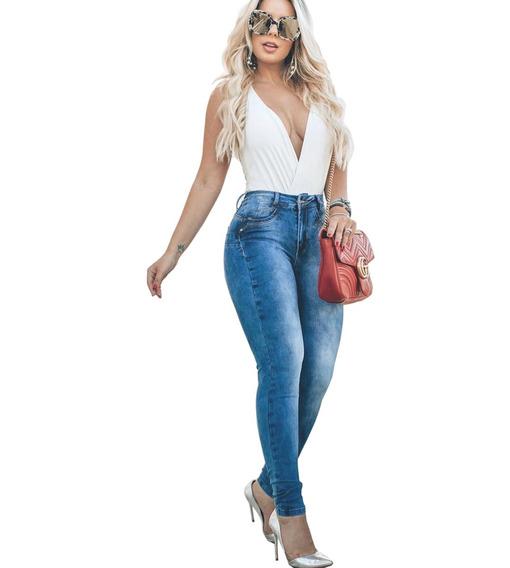 Calça Jeans Feminina Com Lycra Levanta Bumbum Biotipo