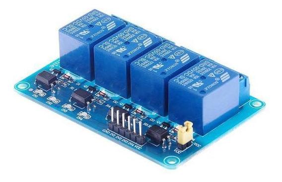 Módulo Relé 5v 10a 4 Canais Optoacopladores Para Projetos
