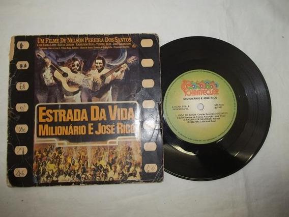 Vinil Compacto - Milionário E José Rico - Estrada Da Vida