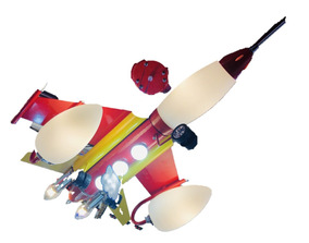 Lustre Infantil Foguete 8 Lampadas
