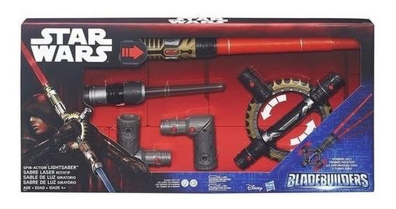 Star Wars Espada Doble Giratoria Con Luz Y Sonido Lny B8263