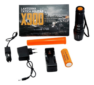 Lanterna Tática X900 Profissional - Super Led T6 - Promoção