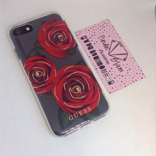 Case Tipo Guess Con Rosas Para iPhone 6/7/8, 6 Plus/7+/8+