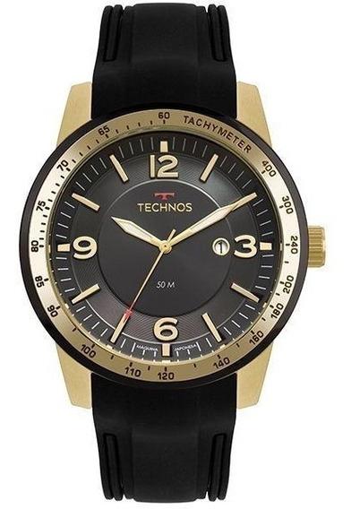 Relógio Technos Masculino Racer Dourado/preto 2117lbb/8p