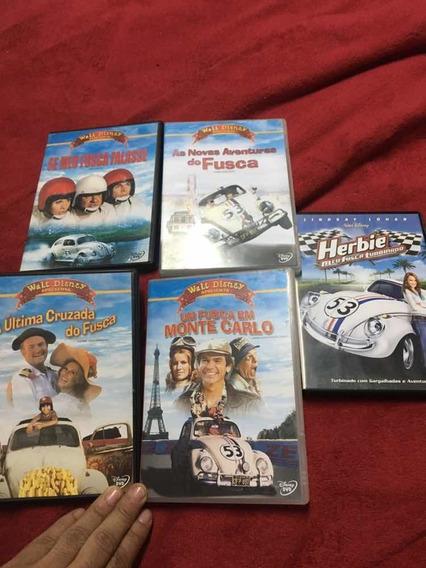 Dvd Coleção Completa Herbie Se Meu Fusca Falasse Originais