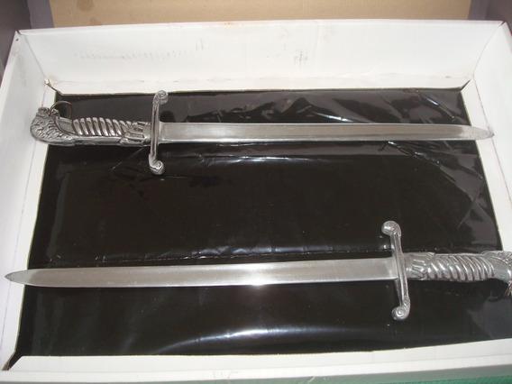 Replica En Aluminio De Antiguos Sables Corto De La P.federal