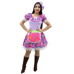 Vestido Festa Junina Adulto Junino Caipira - Vários Modelos