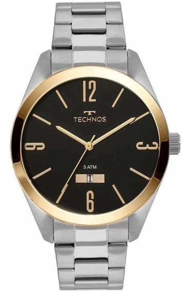 Relógio Technos Masculino Prata Com Dourado 2115mnv/1p