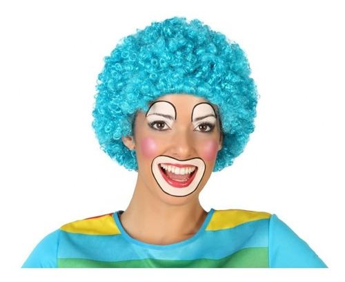 Peluca De Payaso Multicolor O Lisa Para Cotillón O Disfraz.