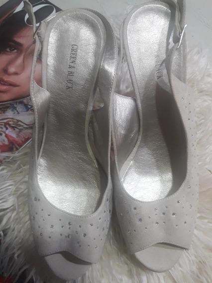 Zapato Nude Con Brillo!