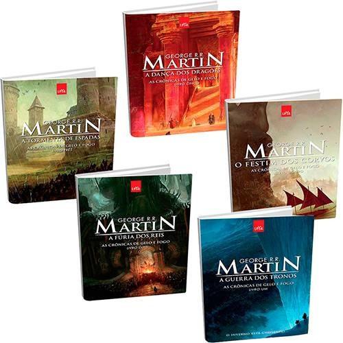 Game Of Thrones 5 Livros Portugues Crônicas De Gelo E Fogo