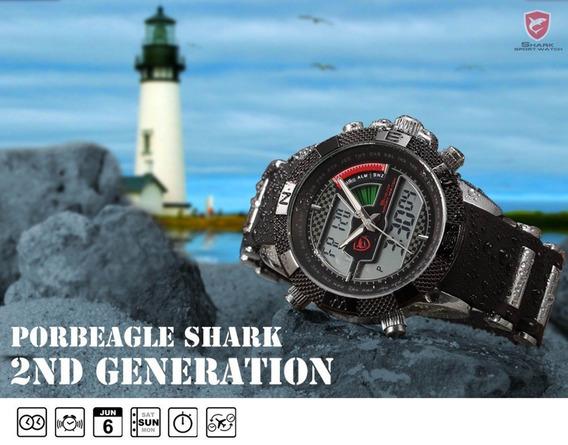 Relógio Shark Sh043 Militar Esportivo Várias Funcões
