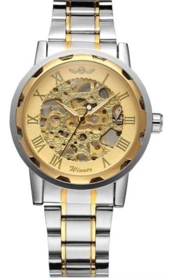 Relógio Masculino Winner Semi Automático Barato Luxo C.122