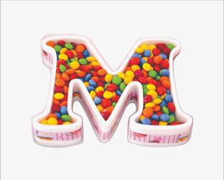 Letras Huecas 16 Cm + Corporeas Polyfan Belgrano Candy Bar