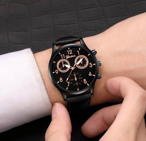 Relógio Geneva Masculino Dourado-escuro