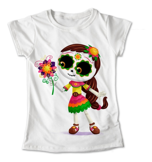Blusa Colores Playera Flores Calaveras Dia De Muertos #268