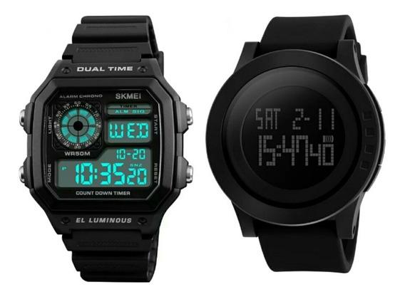 2 Relógio Masculino Skmei Modelo 1142 + 1299 Prova D