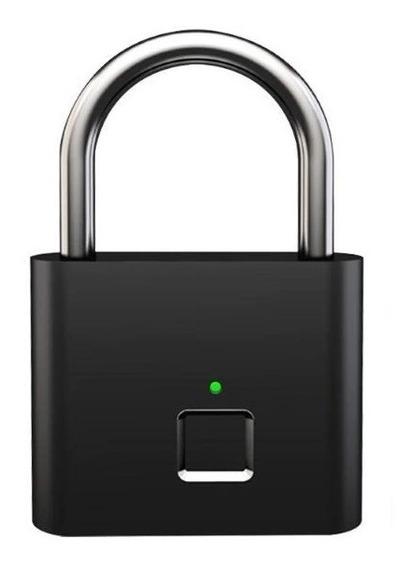 Cadeado Biométrico Trava Abertura Com Impressão Digital