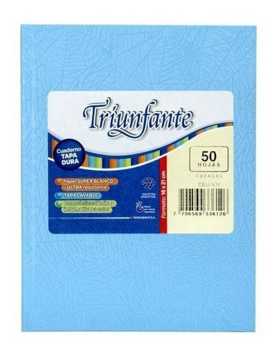 Cuaderno Triunfante 16x21 X 50 Hojas T/d Rayado