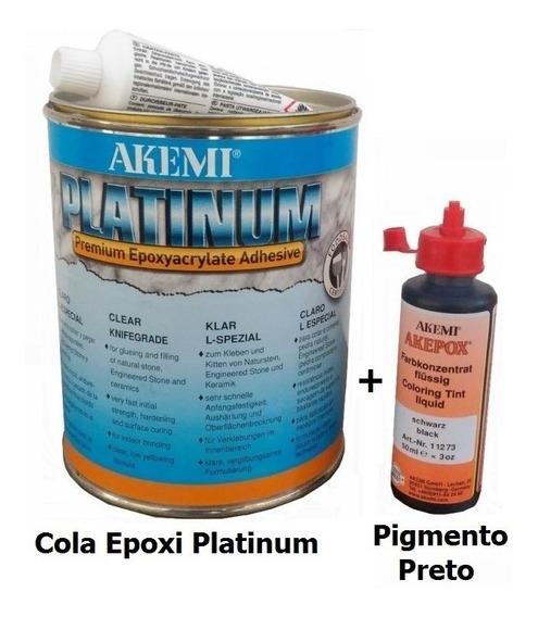 Cola Epóxi Platinum+pigmento Silestone Dekton Quartzo Akemi