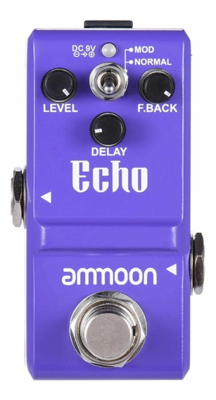 Pedal De Guitarra Delay Echo Ammoon Na Caixa Pronta Entrega