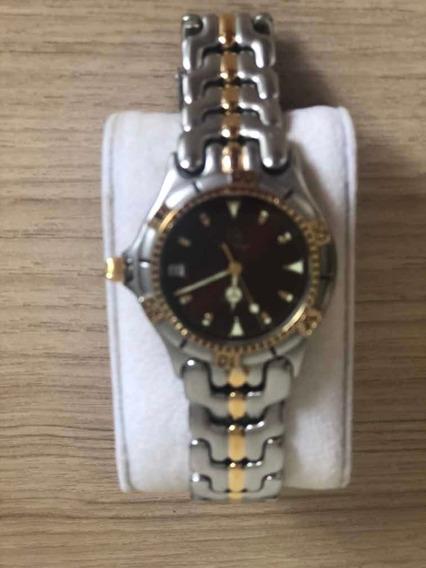Relógio Bulova Feminino, Prateado E Dourado, Caixa Suissa.