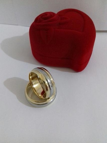 Par De Alianças Bodas De Prata Idêntica Ao Ouro 18k+brinde