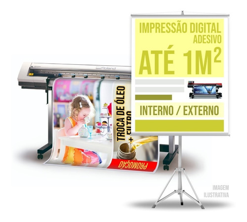 Imagem 1 de 2 de Impressão Digital Em Adesivo Vinil Até 1m² Alta Resolução