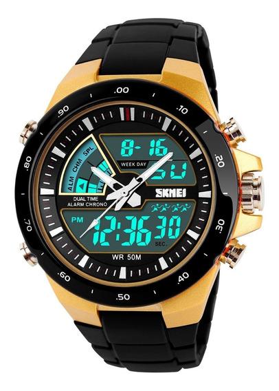 Relógio Masculino Esportivo Militar 5atm Skmei 1016 Original
